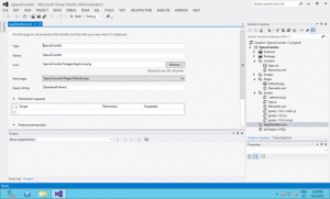 SharePoint app project open in VS2012